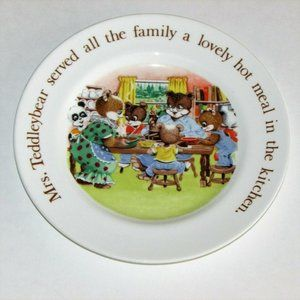 "AYNSLEY TEDDLEYBEARS 7"" CHILD'S PLATE 1983 VINTAGE"